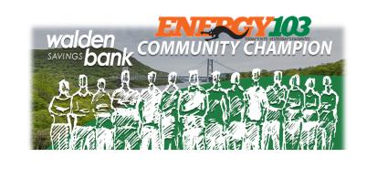 WALDEN SAVINGS BANK AWARDS THREE LOCAL COMMUNITY CHAMPIONS