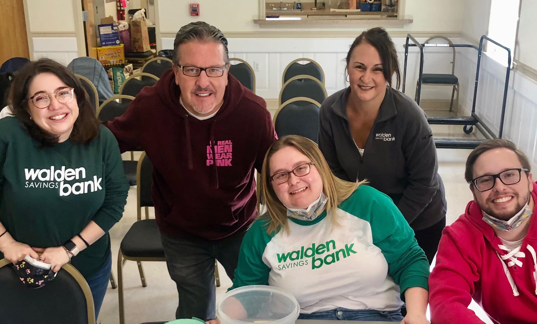 WALDEN SAVINGS BANK VOLUNTEERS FOR LOCAL ORGANIZATION